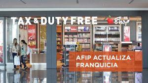 AFIP modifica franquicia para quienes viajan al exterior