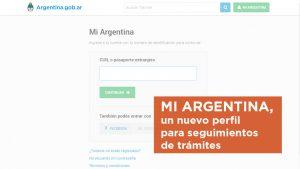 MI ARGENTINA, un nuevo perfil para seguimientos de trámites e información importante.
