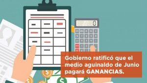 Gobierno ratificó que el medio aguinaldo de junio pagará Ganancias