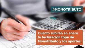 Cuánto subirán en enero la facturación tope de Monotributo y los aportes