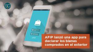 AFIP lanzó una app para declarar los bienes comprados en el exterior