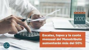 Las escalas, topes y la cuota mensual del Monotributo aumentarán más del 50% en 2020