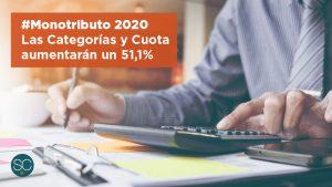 Las Categorías y Cuota del Monotributo Aumentarán un 51,1% en 2020